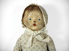 Creepy Antique Doll by RuggyDesign on Etsy, $45.00