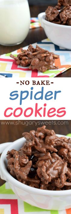 These delicious, sweet and salty Spider Cookies are a huge hit in my family! It's a good thing the recipe makes a bazillion.