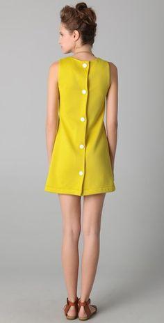 Love the retro back on this Missoni shift dress.