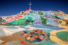 Salvation Mountain, Slab City, California. MUST visit here, this place is amazing and interesting.