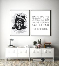 Stay on trend and under budget with this digital watercolor Biggie portrait and quote printable! The Notorious BIG portrait has a watercolor paper background to imply texture.