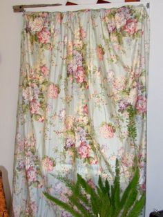 Clearance Sale Price :) Waverly Curtains Aquamarine Floral 3 Panels