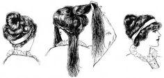 Edwardian hair styling. #1910s