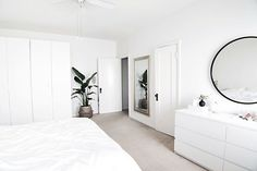 March Highlights – Homey Oh My – Bedroom Haven – einrichtungsideen wohnzimmer Simple Bedroom Decor, Room Ideas Bedroom, Home Bedroom, Ikea Bedroom Design, Simple Bedrooms, Dream Rooms, Dream Bedroom, Minimal Bedroom, Minimalist Room
