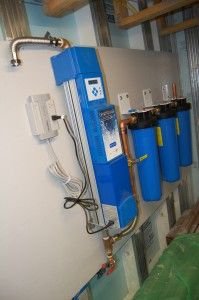 Filtration and UV water treatment of rainwater from...