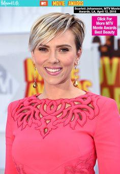 PICS] Scarlett Johansson's 2015 MTV Movie Awards Hair & Makeup ...