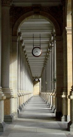 Colonnade of columns. Czech republic.   http://hadrian6.tumblr.com