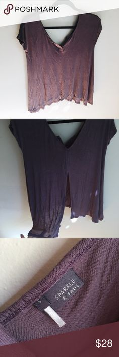 Purple Flowy Summer Knit Top Urban Outfitters Hardly worn. Super soft and semi sheer. Open back. Urban Outfitters Tops Tees - Short Sleeve