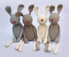 This nudgerabbit want to be snuggled up, pressed, and carried around in the wide world... Crocheted from carefully selected yarn - having the same love-