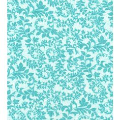 Keepsake Calico Cotton Fabric-Swirling Vines Pool Blue (10 CAD) ❤ liked on Polyvore featuring backgrounds