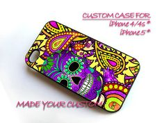 Day of The Dead, iPhone 4 Case, iPhone 4s Case, Sugar Skull iPhone 5 Case, Pattern Samsung Galaxy S3 i9300, Paisley Samsung Galaxy S4 i9500