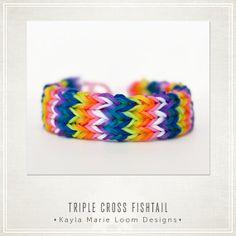 Rainbow Loom Triple Cross Fishtail Bracelet - Party Favor