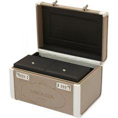 Prada Medium Red Suitcase - Prada - Brands - Vintage Luggage ...