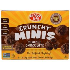 Enjoy Life Foods, Crunchy Minis, Double Chocolate Individual Snack Packs, 6 - 1 oz (28 g) Each