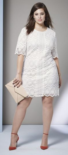 Plus size dress lace sleeves garment
