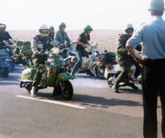 Scooter rally in the 80's, good times