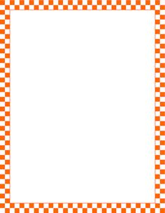 Printable orange and white checkered border. Free GIF, JPG, PDF, and PNG downloads at http://pageborders.org/download/orange-and-white-checkered-border/
