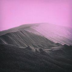 Peak District graphic pink sky