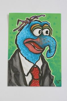 The Great Gonzo Muppet ORIGINAL sketch card by kevbrett on Etsy, £5.00