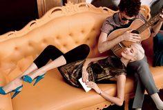 ☆ Agyness Deyn & Albert Hammond Jr.   Photography by Mikael Jansson   For Vogue Magazine US   February 2009 ☆ #Agyness_Deyn #Albert_Hammond_Jr #Mikael_Jansson #Vogue #2009