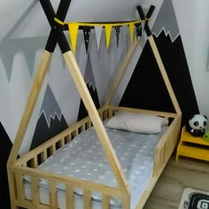Boy Toddler Bedroom, Baby Boy Room Decor, Baby Bedroom, Baby Boy Rooms, Kids Bedroom, Bedroom Colour Schemes Warm, Bed With Drawers, Childrens Beds, Kids Room Design