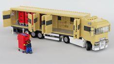 Renault T with Folding Wall Trailer Lego City Fire Truck, Lego Truck, Lego Army, Lego Military, Lego Van, Lego Wheels, Lego Village, Lego Machines, Lego Fire