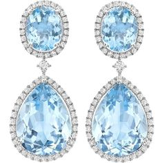 Blue Topaz Pear and Oval Drop Earrings (3.312.855 CLP) ❤ liked on Polyvore featuring jewelry, earrings, pear drop earrings, blue topaz drop earrings, drop earrings, oval earrings and blue topaz jewelry