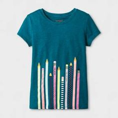 Perfect for outdoor summer fun, this Girls' Somersault Animal Graphic Tee by Cat & Jack™ in Aqua Float is a wardrobe essential. Plus, it's guaranteed. Cat & Jack is made to last, but if anything doesn't, you can return it up to 1 year later with your receipt.