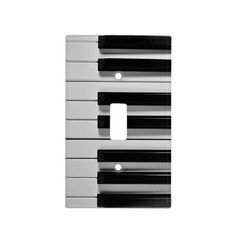 Piano Keyboard Custom Light Switch Cover--Whether you are a piano virtuoso or someone who can barely play Chopsticks, you are sure to love this black and white Piano Keyboard Custom Light Switch Cover. #piano #keyboard #music #musician #decor #dorm #apartment #Zazzle