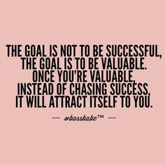 Success Will Attract Itself To You