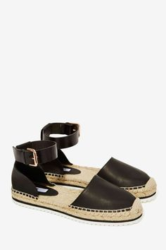 Miista Cassandra Leather Espadrille Shoe