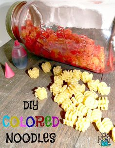 Try this fun recipe to make your Own COLORED NOODLES!