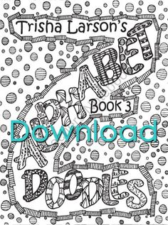 """Book 3 Alphabet Doodles from Abstract Doodles on TeachersNotebook.com (28 pages)  - Coloring books for """"kids"""" of all ages. Inspiring you to get your Artist on!"""