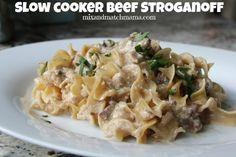 Mix and Match Mama Slow Cooker Beef Stoganoff