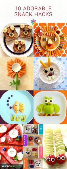 Camping With Kids Try these 10 adorable snack hacks for healthy kids.Try these 10 adorable snack hacks for healthy kids. Food Art For Kids, Cooking With Kids, Children Food, Birthday Food Ideas For Kids, Snacks For Toddlers, Food Kids, Cute Snacks, Cute Food, Fruit Snacks