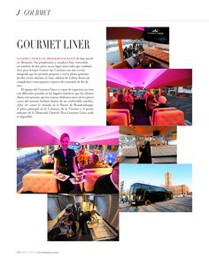 Gourmet Liner - Revista J #Restaurant #Movil #Tour #Vip
