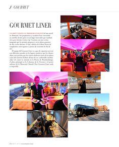 Gourmet Liner - Revista J #Restaurant #Movil #Tour #Vip