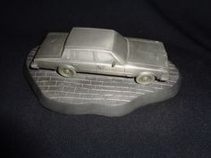 RARE GEMCO INDUSTRIES CADILLAC DEALER PEWTER 1976 CADILLAC SEVILLE CAR W BASE