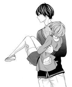 """Anime Couples This is from a really adorable manga called """"Nishiki-kun no Nasugamama"""". I really loved it! Anime Love, Manga Love, Manga To Read, Anime Couples Drawings, Couple Drawings, Cute Anime Couples, Anime Couples Cuddling, Manga Anime, Anime Amor"""