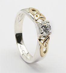 Trinity Shoulder CZ Ring