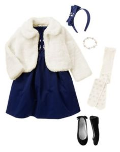 Blue christmas dress 4t