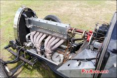 Vintage Revival Montlhery 2015, Moteur 8 Cylindres Bugatti