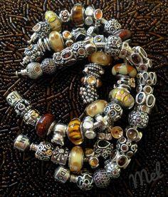 Pandora - silver and browns !!!