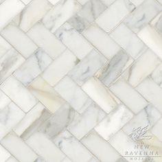 "Considering this floor for the upstairs bathroom: Herringbone 3"" x 6"" | New Ravenna Mosaics"