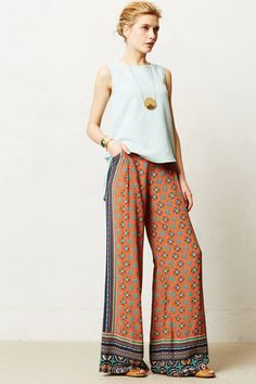 Tiled Wide-Legs - anthropologie.com