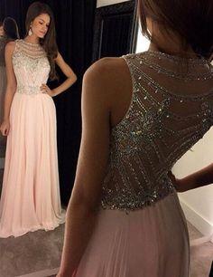 Vestido de Baile Rosa con cuentas para Noche Baile de graduación Vestido Formal con espalda transparente Fiesta Boda concurso | Ropa, calzado y accesorios, Ropa para mujer, Vestidos | eBay!