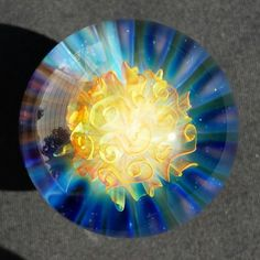 ~Nvs Glass ~  Gold & Silver  Fumed Implosion