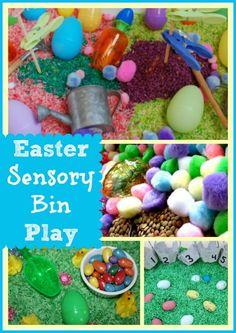 Easter Sensory Bin Play