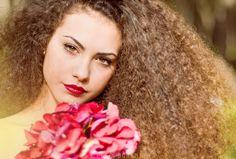 Photography girl flowers