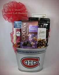 45 best innovative gift basket designs images on pinterest gift a happy birthday gift basket that was shipped to a montreal canadiens fan negle Images